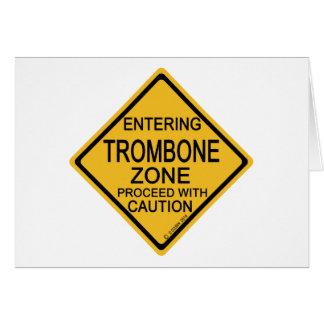 Cartes Zone entrante de trombone
