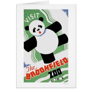 Cartes Zoo de Brookfield de panda WPA 1938
