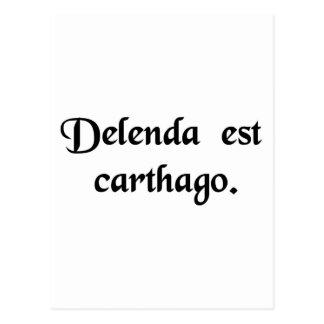 Carthage doit être détruite carte postale