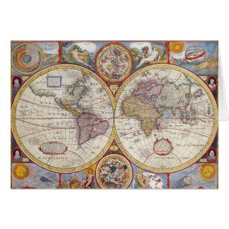 Cartographie antique vintage de carte de Vieux