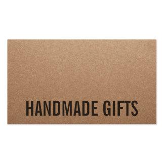 Carton fait main brun moderne rustique de papier carte de visite standard