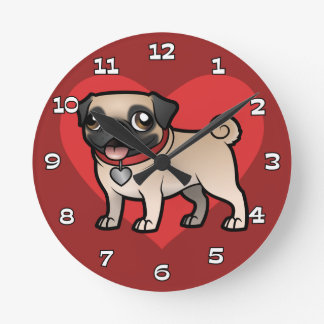 Cartoonize mon animal familier horloge ronde