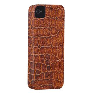 Cas 4s de l iPhone 4 de peau de crocodile de Brown Coque Case-Mate iPhone 4