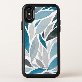 Cas abstrait de l'iPhone X du motif de vagues