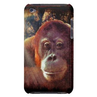 Cas animal de téléphone de faune rouge de singe d'