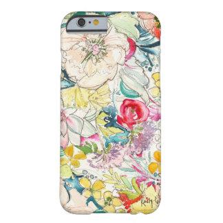 Cas au néon de l'iPhone 6 de fleur d'aquarelle Coque Barely There iPhone 6
