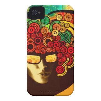 cas audacieux de couverture de bruit de mûre psych coques Case-Mate iPhone 4