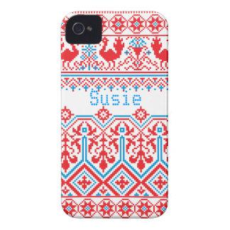 cas audacieux de couverture de mûre russe de Noël Étuis iPhone 4