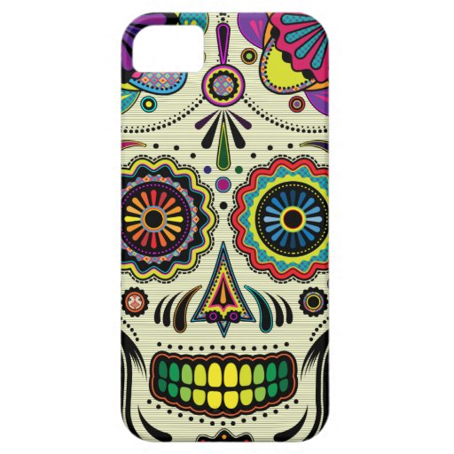 Cas aztèque de l'art iPhone5 de crâne de sucre Coque iPhone 5