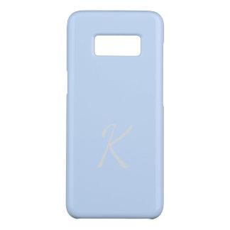 Cas bleu-clair mou élégant décoré d'un monogramme coque Case-Mate samsung galaxy s8