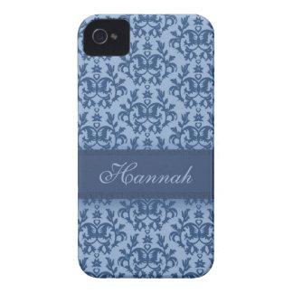 Cas botanique de nom du bleu de poudre de damassé  coques iPhone 4 Case-Mate