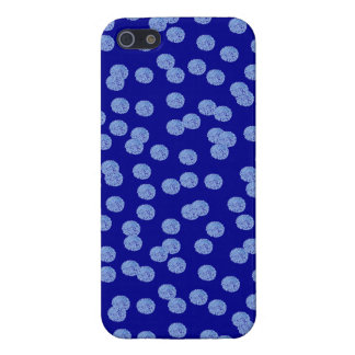 Cas brillant de l'iPhone 5/5s/SE de pois bleu Étui iPhone 5