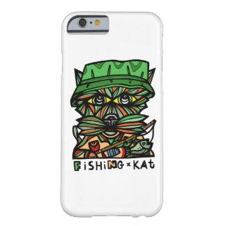 """Cas brillant de téléphone de la """"pêche KAT"""" Coque iPhone 6 Barely There"""