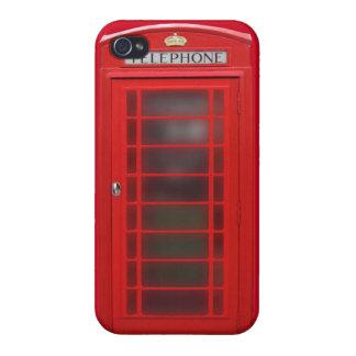 Cas britannique de téléphone de cabine de téléphon coques iPhone 4/4S