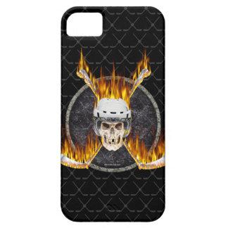 Cas brûlant de l'iPhone 5 de bâtons de hockey Coque iPhone 5