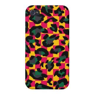 Cas carré de l iPhone 4 de motif de peau d animal Étuis iPhone 4