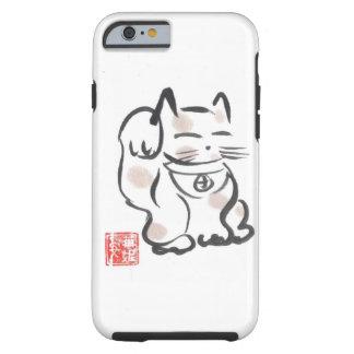 Cas chanceux de l'iPhone 6 de chat Coque Tough iPhone 6