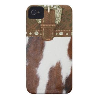 Cas d IPhone 4 de peau de vache et de cuir Coques Case-Mate iPhone 4