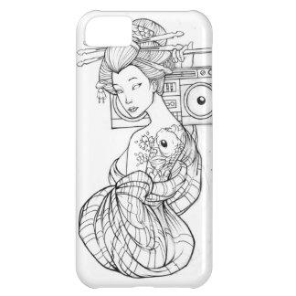 Cas d IPhone 5 de roche de Boombox de geisha