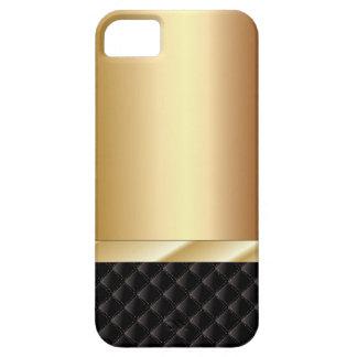Cas de Champagne de l'iPhone de luxe 5 de noir et