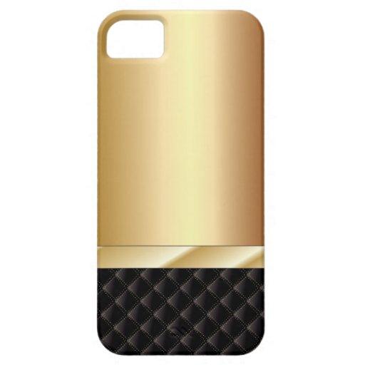 Cas de Champagne de l'iPhone de luxe 5 de noir et  Coque iPhone 5 Case-Mate