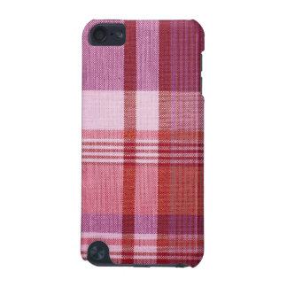 Cas de contact d iPod de point de plaid rose