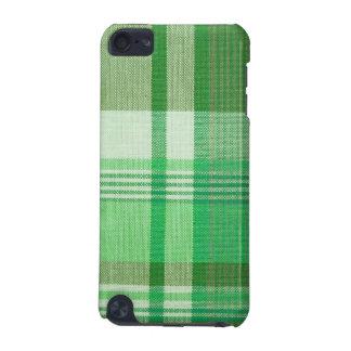 Cas de contact d iPod de point de plaid vert
