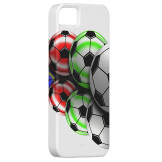 Cas de Coque-Compagnon d'Iphone 5 de ballon de foo