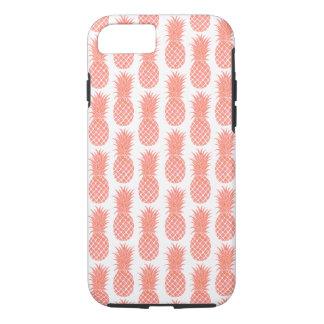 Cas de corail de téléphone d'ananas d'aquarelle coque iPhone 7