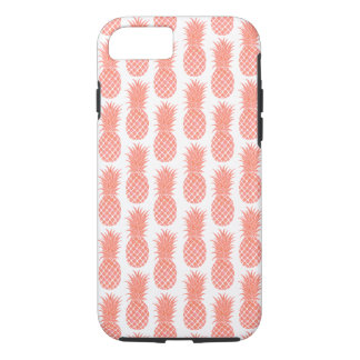 Cas de corail de téléphone d'ananas d'aquarelle coque iPhone 8/7