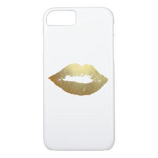 Cas de dispositif de mode de lèvres de feuille coque iPhone 7