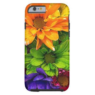 Cas de floraison de téléphone de kaléidoscope par coque iPhone 6 tough