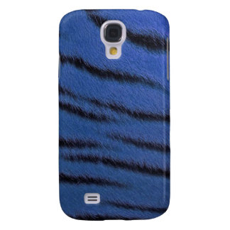cas de l iPhone 3G - fourrure de tigre - bleu
