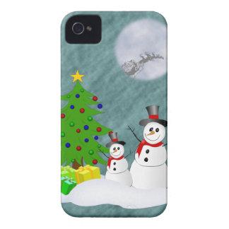 Cas de l iPhone 4 de bonhommes de neige à peine là Coques Case-Mate iPhone 4