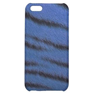 cas de l iPhone 4 - fourrure de tigre - bleu