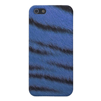 cas de l iPhone 4 - fourrure de tigre - bleu Étuis iPhone 5