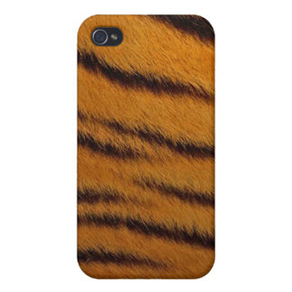 cas de l iPhone 4 - fourrure de tigre - orange Coques iPhone 4/4S