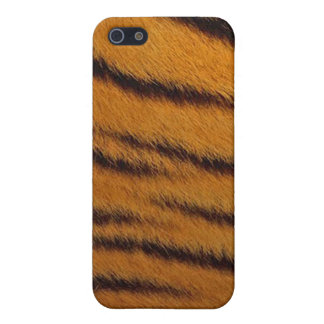 cas de l iPhone 4 - fourrure de tigre - orange iPhone 5 Case