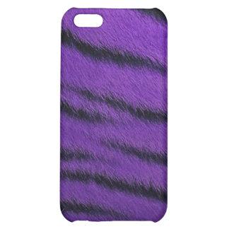 cas de l iPhone 4 - fourrure de tigre - pourpre