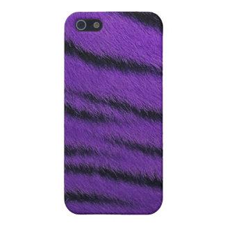 cas de l iPhone 4 - fourrure de tigre - pourpre iPhone 5 Case
