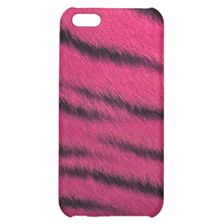 cas de l iPhone 4 - fourrure de tigre - rose