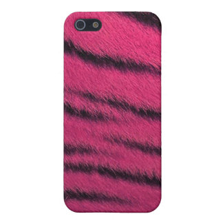 cas de l iPhone 4 - fourrure de tigre - rose Coque iPhone 5
