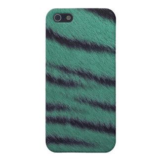 cas de l iPhone 4 - fourrure de tigre - vert iPhone 5 Case