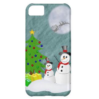 Cas de l iPhone 5 de bonhommes de neige à peine là