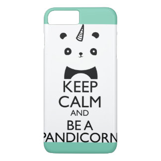 Cas de licorne de panda d'iPhone d'Aqua Coque iPhone 8 Plus/7 Plus