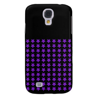 Cas de l'iPhone 3G d'étoiles de pourpre et de noir Coque Galaxy S4