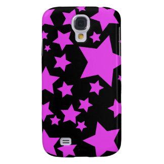 Cas de l'iPhone 3G d'étoiles de rose et de noir Coque Galaxy S4