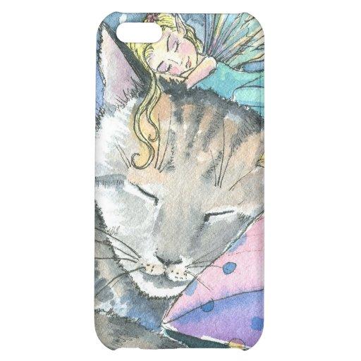 Cas de l'iPhone 4 de chat tigré et de fée Coque Pour iPhone 5C