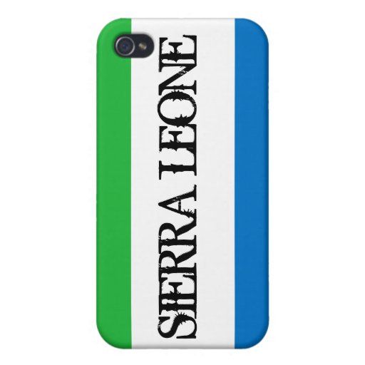 Cas de l'iPhone 4 de drapeau de Sierra Leone iPhone 4 Case