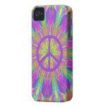 Cas de l'iPhone 4 de paix avec le colorant psychéd Étuis iPhone 4
